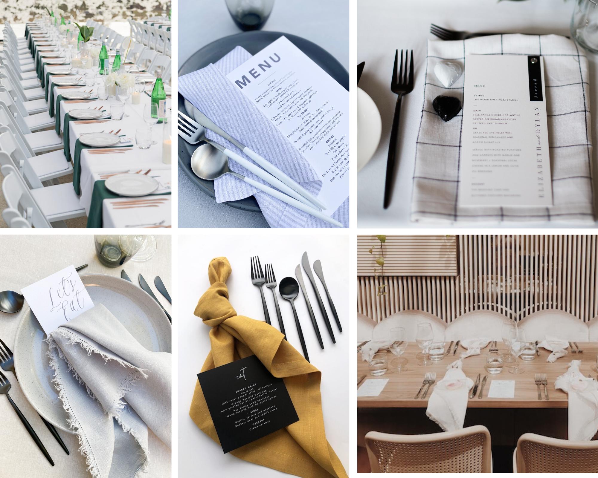 hire, adelaide, wedding, napkin